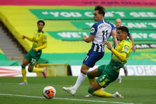 Trossard lifts Brighton as Norwich slip closer to relegation