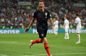 Watch an alternate angle of Croatia's go-ahead goal against England