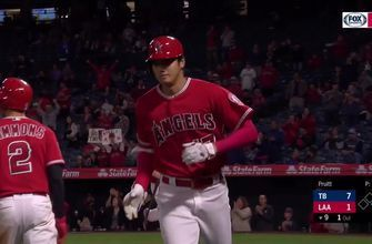 Shohei Ohtani denies Rays shutout with home run to dead center field