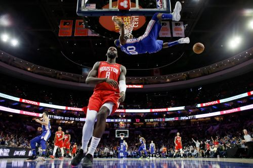 Embiid leads 76ers to 121-93 rout of Harden, Rockets
