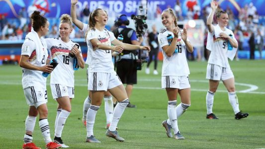Germany thrash South Africa to win Group B