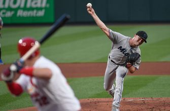 Trevor Richards with 8 Ks, Marlins fall short to Cardinals with 2-1 loss in extra innings