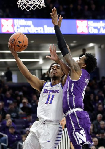 Northwestern rallies from 15 points down, beats DePaul 75-68