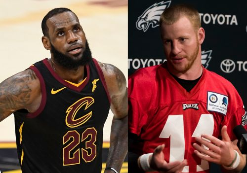 Carson Wentz says he'd 'absolutely' help recruit LeBron to 76ers