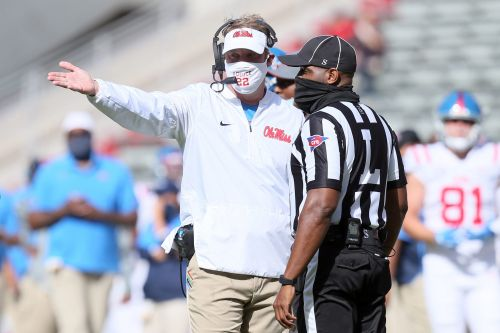 Lane Kiffin rants about secrecy among SEC refs after controversial Ole Miss-Auburn call