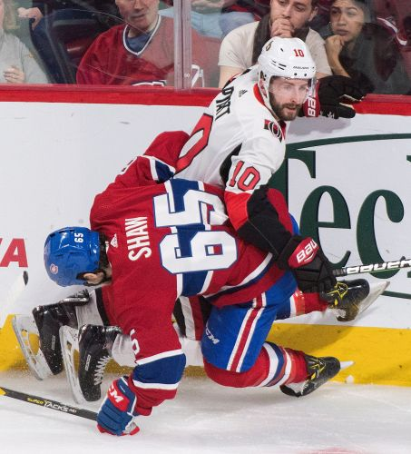 Canadiens score 4 in 3rd. beat Senators again 5-2