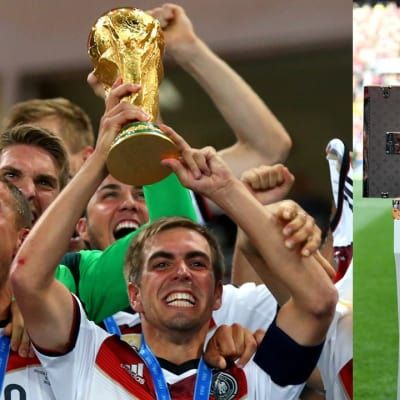Natalia Vodianova and Philipp Lahm to accompanythe Official FIFA World Cup™ Original Trophy and Travel Case designed by Louis Vuitton at the FIFA World Cup™ Final