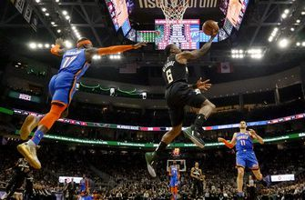 Giannis Antetokounmpo helps Bucks rout Thunder, 133-86
