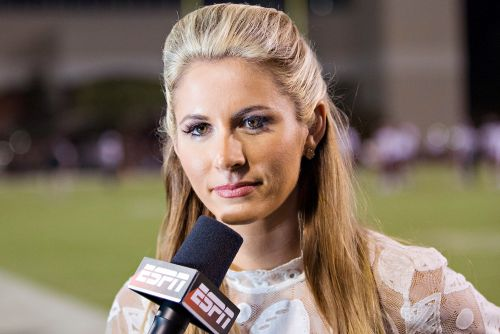 Georgia player offers date to ESPN's Laura Rutledge after sideline hit