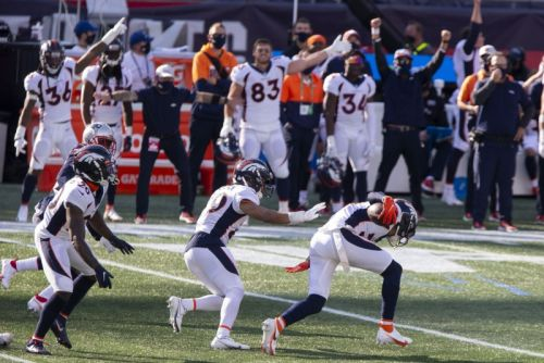 Drew Lock overcomes multiple interceptions to beat the Patriots in New England