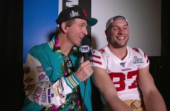 Nick Bosa sits down with Cooper Manning on Opening Night for the Super Bowl