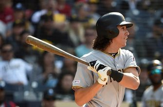 Cole Tucker's RBI single gives the Pirates a 2-1 lead over the Dodgers