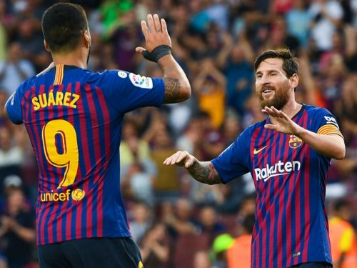 Messi and Suarez outscoring Real Madrid and Atletico in La Liga