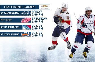 Panthers gear up for defending champion Capitals