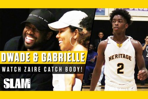 Dwyane Wade and Gabrielle Union Watch Zaire Catch First POSTER DUNK!⚡️