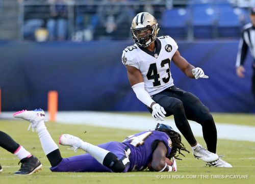Saints safety Marcus Williams misses end of Ravens game with injury