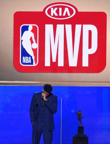 Teary-eyed Antetokounmpo wins NBA MVP honors