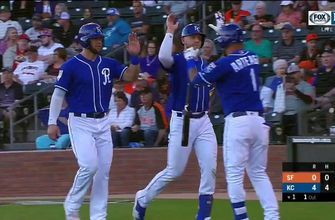Four homers help power Royals past Giants 15-3