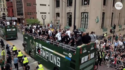 Milwaukee Bucks celebrate first NBA championship in 50 years with city parade