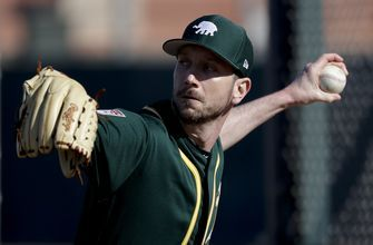 Blevins says he has felt at home returning to the A's
