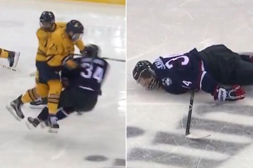 Islanders draft pick victim of one of scariest hits you'll see