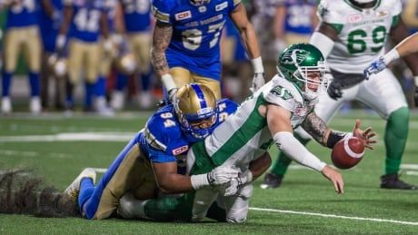3 Bombers fined for illegal hits in West semifinal win over Roughriders