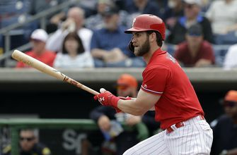 Bryce Harper hits first homers, goes deep twice for Phillies