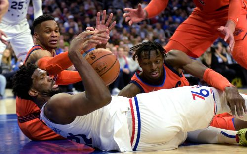 Russell Westbrook on if he's 'cool' with Joel Embiid after latest clash: ' no'