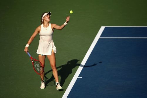 Bouchard claims first top-50 win in 14 months