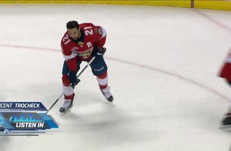 Mic'd up: Vincent Trocheck shows his passion for the game in Panthers' huge win over Sharks