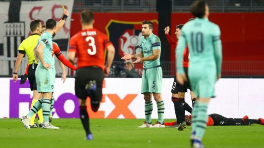 Arsenal fall to Rennes to leave Europa League campaign in the balance