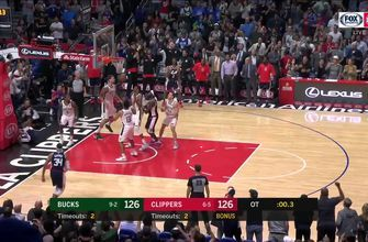 HIGHLIGHTS: Clippers top Bucks in OT thriller