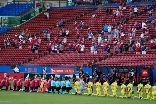 MLS fans boo players for kneeling during national anthem ahead of game