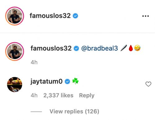 It Appears Jayson Tatum Had A Day Recruiting For Celtics On Instagram