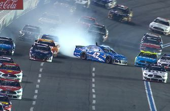Big crash on the backstretch involving Larson, Dillon late in the Coca-Cola 600