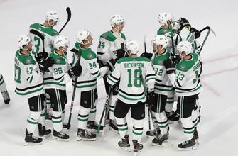 Stars beat Blues to draw Flames, St. Louis to face Canucks