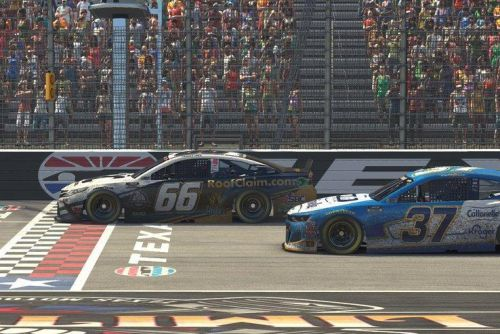 NASCAR iRacing: Timmy Hill wins second virtual race at Texas Motor Speedway