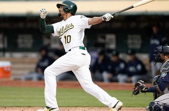 Marcus Semien belts home run to extend the A's lead in 2nd inning