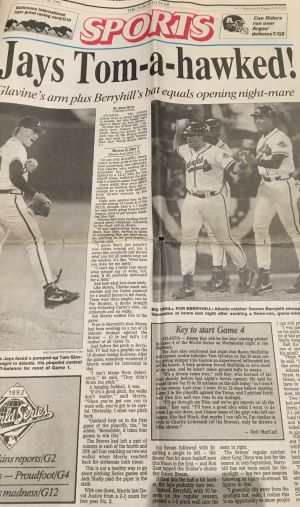Blue Jays Time Capsule: Braves take Game 1 of '92 World Series