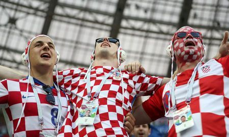 Croatian fans aim for Moscow's World Cup final at any cost