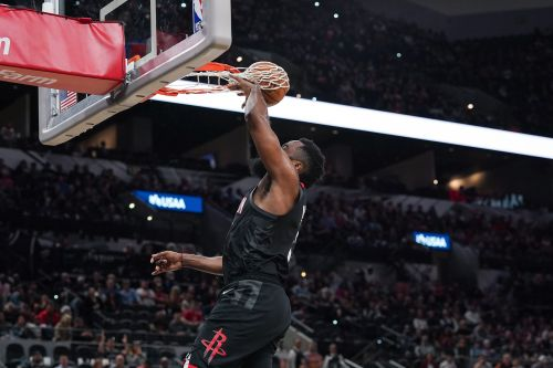 Houston Rockets file protest over James Harden's uncounted dunk against the San Antonio Spurs