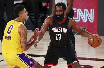Harden's 39 help Rockets past short-handed Lakers 113-97