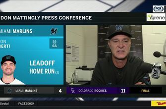 Don Mattingly on Marlins' loss to Rockies, giving up the long ball