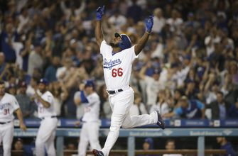Puig's pinch-hit homer helps Dodgers sweep Rockies, 5-2