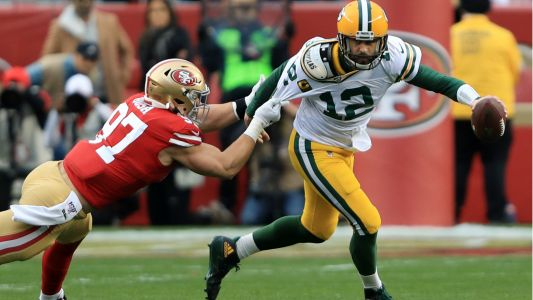 Dominant 49ers defense has little fear after taking down Aaron Rodgers in NFC championship