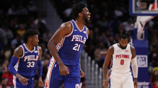 Joel Embiid says he owns 'real estate' in Andre Drummond's head; Pistons center responds
