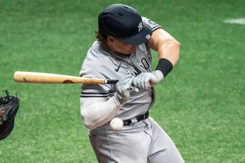 Luke Voit hit in hand in first game back with Yankees but 'feeling good'