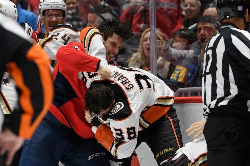 Capitals-Ducks brawl ends with spitting ejection
