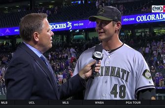 Jared Hughes was full of adrenaline after 6-5 victory over the Rockies