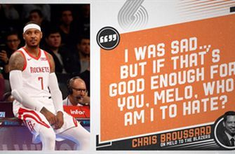 Chris Broussard gives his thoughts on Melo signing with the Blazers
